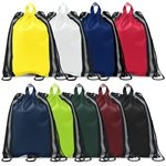 Promotional Non Woven Color Vista Multi Color Marco Polo String Backpack 13 X 16