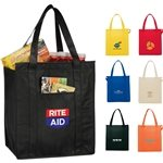 Promotional Non Woven Insulated Multi Color Hercules Grocery Tote 13 X 15