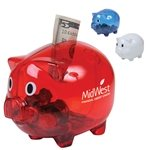 Promotional Custom Translucent Piggy Bank Coin Bank