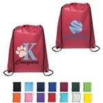 Promotional Non Woven Multi Color Drawstring Cinch-Up Backpack 14.5 X 17.5
