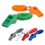 Promotional Whistle Keychain w/ Coil
