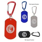 Promotional Dog Tag Carabiner Key Chain