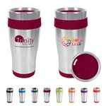 Promotional 16 Oz BPA-Free Plastic Blue Monday Travel Tumbler With Multiple Color Choices