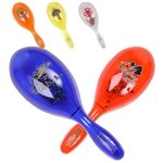 Promotional Plastic Translucent Maracas Filled With Plastic Beans