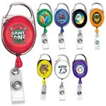 Promotional 30 Cord Retractable Carabiner Style Badge Reel & Badge Holder