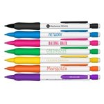 Promotional Mechanical Pencils - White Barrel with Rubber Grip - Refillable