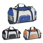 Promotional Nylon Tri-Pocket Sport Duffel Bag 18