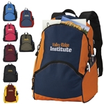 Promotional On The Move Polyester Backpack - 12.5 x 17