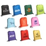 Promotional Quick-Sling Polyester Drawstring Backpack - 13.5 x 16.25