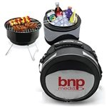 Promotional Polyester 2 In 1 Portable Case Cooler & BBQ Grill Combo
