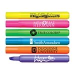 Promotional Brite-Spots® Fluorescent Barrel Jumbo Highlighter with Broad Chisel Tip - USA Made