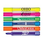 Promotional Brite-Spots® Clear Barrel Jumbo Fluorescent Highlighters with Broad Chisel Tip - USA Made