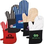 Promotional Oven Mitt With Stripes