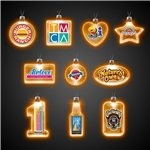 Promotional 24 LIGHT UP PENDANT NECKLACES - Amber