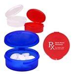Promotional Single Compartment Plastic Pill Case