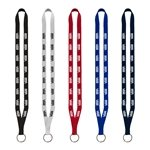 Promotional 1/2 Polyester Lanyard with Sewn Metal Split-Ring