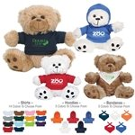 Promotional 6 Plush Big Paw Bear With Shirt