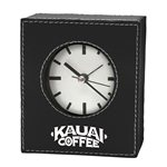 Promotional Leatherette Desk Clock