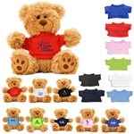 Promotional 6 Plush Teddy Bear With Choice Of T-shirt Color