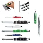 Promotional METAL PEN/STYLUS WITH LIGHT