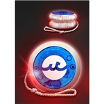 Promotional Red LED Lighted Yo-Yo's - Blue