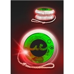 Promotional Red LED Lighted Yo-Yo's - Green