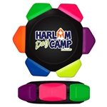 Promotional Neon Six Color Crayon Wheel - Full Color Decal Print