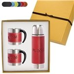 Promotional Tuscany™ Thermos & Coffee Cups Gift Set