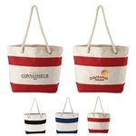 Promotional Cotton Resort Tote w/ Rope Handle
