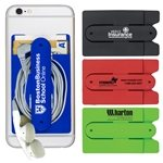 Promotional Kickstart' Two Function Soft Silicone Cell Phone Kickstand & Wallet