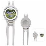 Promotional Golfers Divot Tool with Ball Marker