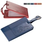 Promotional Tuscany™ Duo-Textured Luggage Tag