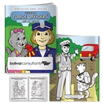 Promotional Coloring Book: Friendly Police Officers