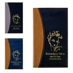 Promotional NormandyTwo-Tone Vinyl Soft Cover Monthly Pocket Planner