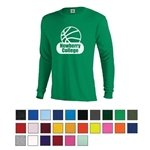 Promotional Adult 5.2 oz Cotton Long Sleeve T-Shirt - Screen