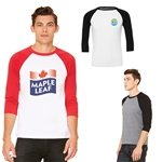 Promotional Bella+Canvas® Unisex 3/4 Sleeve Baseball Tee