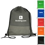 Promotional Wave Drawstring Backpack
