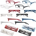 Promotional Soft Feel Reading Glasses w/Matching Case