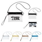 Promotional Game Day Clear Wristlet Pouch