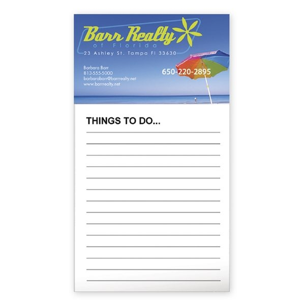 Custom bic business card magnet w 50 sheet notepad promotional bicr business card magnet with 50 sheet notepad colourmoves