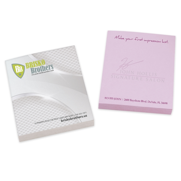 Promotional BIC(R) 2-3/4 x 3 Adhesive Notepad, 50 Sheet Pad
