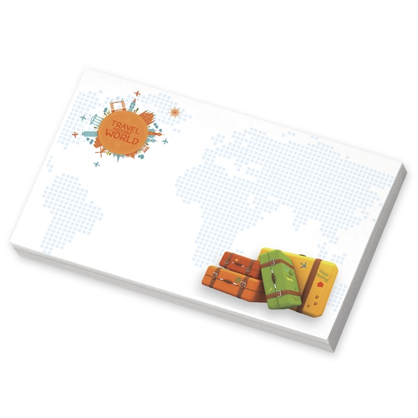 Promotional BIC(R) 5 x 3 Adhesive Notepad, 25 Sheet Pad