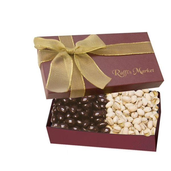 Promotional The Executive Gift Box - Chocolate Covered Almonds Pistachios