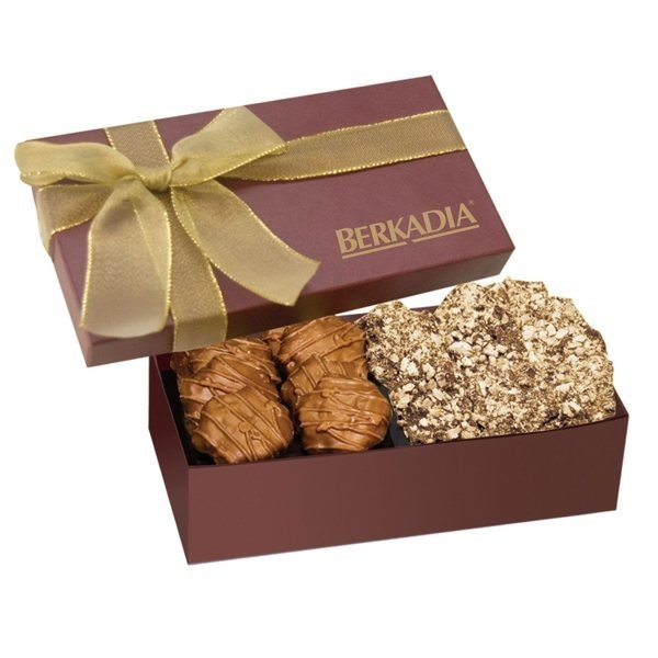 Promotional The Executive Gift Box - Almond Butter Crunch Caramel Cashew Turtles