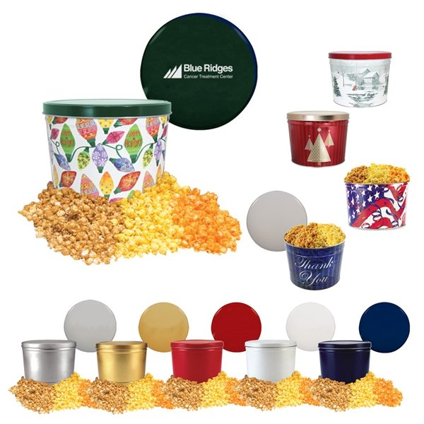 Promotional Two Gallon Popcorn Tin