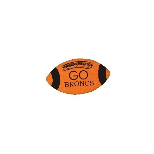Promotional 7.75 Die - Cut Foam Football Shape