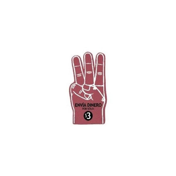 Promotional 18 Foam 3- Finger Hand Cheering Mitt