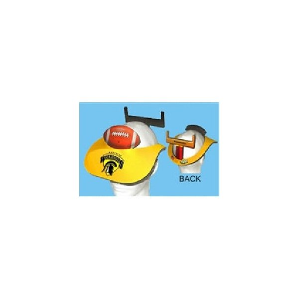 Promotional Football And Goalpost Visor