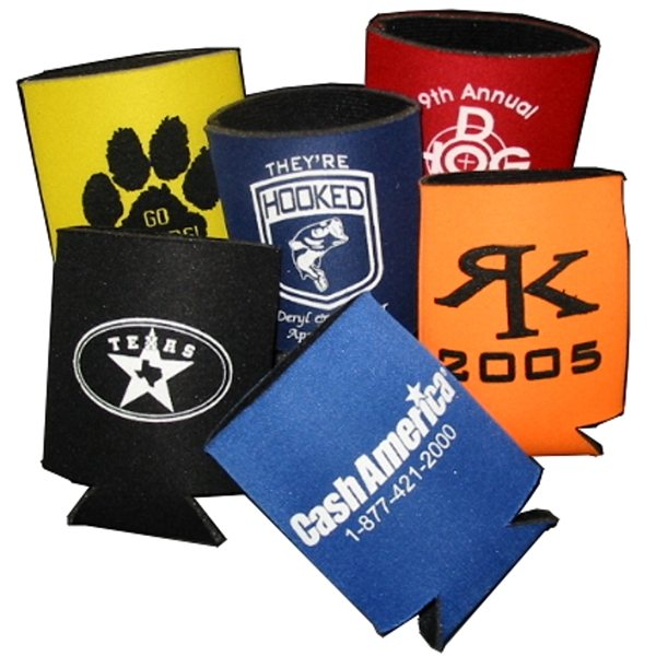 Promotional Fabric - Lined Collapsible Can Holder