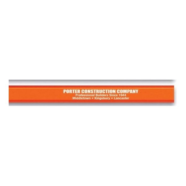 Promotional Carpenter pencil with flat medium - soft lead.